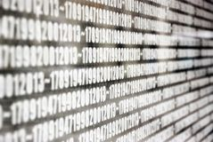The years numbers on the wall at Erzsebet Square in Budapest Stock Images