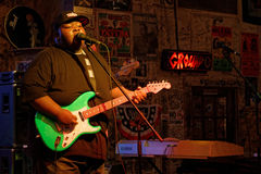15-years old bluesman Christone Kingfish Ingram plays in Clarksdale Stock Image
