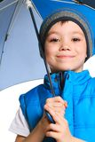 Boy with umbrella Royalty Free Stock Photography