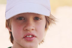 6 years old boy. Outdoor portrait of 6 years old boy royalty free stock photos