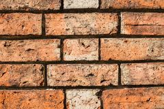 Wonderful, amazing 150 years old brick wall,background Royalty Free Stock Photos