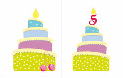 5 years old cake royalty free stock photos