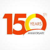 150 years old celebrating classic logo. Anniversary 150 years old celebrating logo. Birthday greetings one hundred fifty celebrates. 100 years old celebrating stock illustration