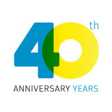 40 years old celebrating classic logo. Royalty Free Stock Images