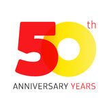 50 years old celebrating classic logo. Anniversary year of 50 th vector numbers. Birthday greetings celebrates with transparency. Traditional digits of jubilee Stock Photography