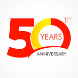 50 years old celebrating classic logo. Colored anniversary 50 th template numbers. Birthday greetings celebrates. Traditional framed digits of jubilee ages Stock Photography