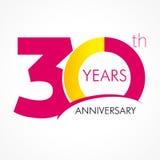 30 years old celebrating classic logo. Stock Photography