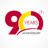 90 years old celebrating classic logo. Stock Image