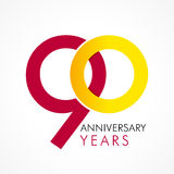 90 years old celebrating classic logo. Royalty Free Stock Photo