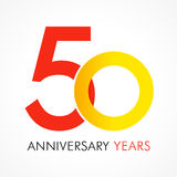 50 years old celebrating classic logo. Anniversary year of 50 th vector template. Birthday greetings celebrates. Traditional digits of jubilee ages in a shape Stock Image