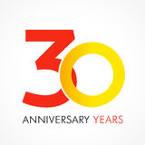 30 years old celebrating classic logo. Royalty Free Stock Photos