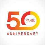 50 years old celebrating classic logo. Stock Photo
