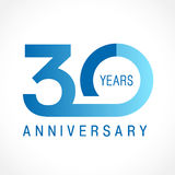 30 years old celebrating classic logo. Stock Photography