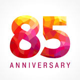 85 years old celebrating fiery logo. Royalty Free Stock Photography
