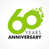 60 years old celebrating green Stock Photos