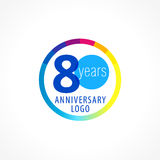 80 years old circle logo. Stock Images