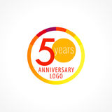 50 years old circle logo. Stock Photography