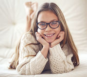 8 years old girl Royalty Free Stock Photo