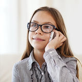 8 years old girl Stock Image