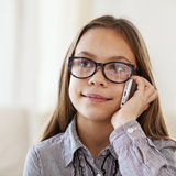 8 years old girl Royalty Free Stock Photography