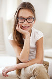 8 years old girl Royalty Free Stock Images
