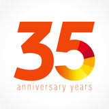 35 years old logo Royalty Free Stock Images