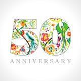 50 years anniversary elegant logo