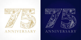 75 years old luxurious celebrating folk numbers. Stock Images