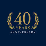 40 years old luxurious logo Stock Images