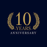 10 years old luxurious logo Stock Images