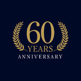 60 years old luxurious logo Stock Photography