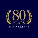 80 years old luxurious logo Stock Photos