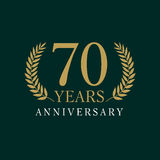70 years old luxurious logo Stock Images