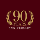 90 years old luxurious logo Stock Photo