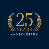 25 years old luxurious logo. Stock Photos