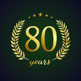 80 years old luxurious logo Stock Photography