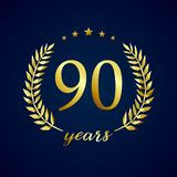 90 years old luxurious logo Royalty Free Stock Photography
