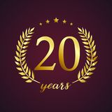 20 years old luxurious logotype. Stock Photo