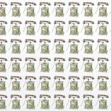50 years old phone gift card or cloth, pattern, repeating pattern,. 50 years old phone gift card or cloth,npattern, repeating pattern stock illustration