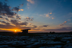 5000 years old Polnabrone Dolmen in Burren, National Park Sunset Stock Photography