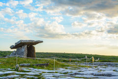 5000 years old Polnabrone Dolmen in Burren, National Park Sunset Stock Photo