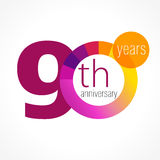 90 years old round logo. Royalty Free Stock Image