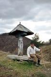 90 years old shepherd Royalty Free Stock Photos