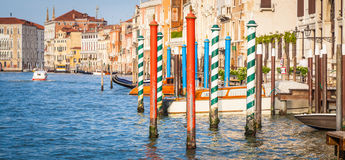 300 years old venetian palace facade from Canal Grande Royalty Free Stock Photography