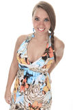19 years old young woman with a dress in front of Stock Photos