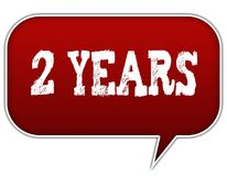 2 YEARS on red speech bubble balloon. Illustration Royalty Free Stock Photography