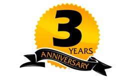 3 Years Ribbon Anniversary Stock Image
