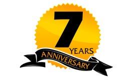 7 Years Ribbon Anniversary Royalty Free Stock Image