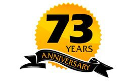 73 Years Ribbon Anniversary. Vector can use for any purpose Royalty Free Stock Photo