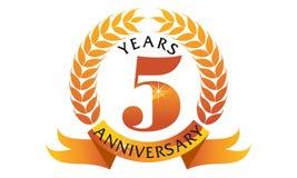 5 Years  Ribbon Anniversary Stock Photos